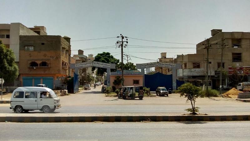 House Available for Sale Malir KARACHI Sindhi Jamaat Co-Operative Housing Society Main Entrance