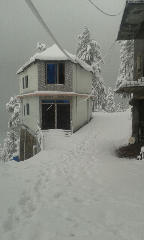 House Available for Sale Patriata MURREE Original View During Winter Snowfall Season